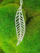 Jessica Hicks Long Leaf Necklace