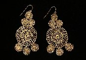 Claudia Lobao The Mother of all Crochets Earrings Gold