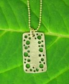 Jessica Hicks Small Dog Tag Necklace in Silver