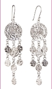 Jessica Hicks Round Lace Earrings Sterling Silver