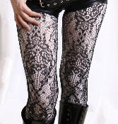 Keira's Favorite Black 21st Century French Lace Tights