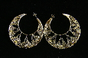 Claudia Lobao Crochet Closed Crescent Earrings