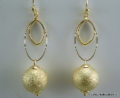 Claudia Lobao Oval Ball Earrings E-1054