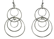 Claudia Lobao E-1046 Multi Hoop Earrings