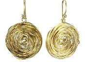 Claudia Lobao E-9714 Dangles 18K Gold Plated Earrings