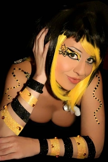 Bumble Bee Stripes self adhesive body art from Xotic Eyes