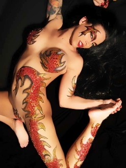 Blazin Blaze self adhesive body art from Xotic Eyes