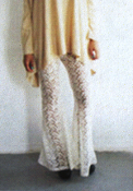 Gypsy Junkies Lolo Bell Bottoms in Cream Daisy Lace
