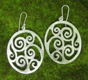 Jessica Hicks Medium Wave Earrings in Sterling Silver