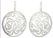 Jessica Hicks Round Filigree Earrings in Sterling Silver.