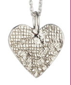 Jessica Hicks Lace Heart Neclace in Sterling Silver