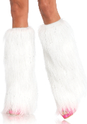 Leg Avenue Furry Lurex Boot Covers