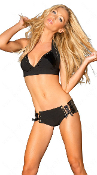 J Valentine Black Halter and Short Set