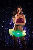Mini Lime Green light up petticoat