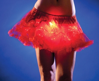 Red light up petticoat