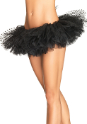 Leg Avenue Tulle Petticoat with mesh flocked polka dot top layer