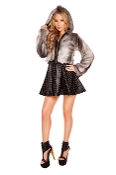 J Valentine Chinchilla Faux Fur Coat