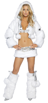 J Valentine Faux Fur Short Jacket with Detachable Hood