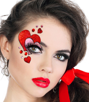 Xotic Eyes Valentine Heart Half Mask