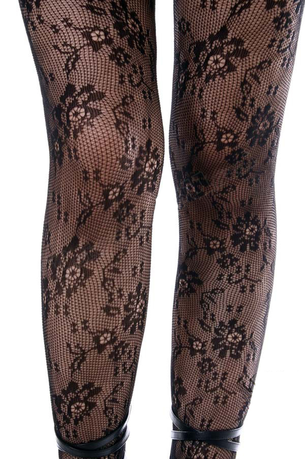 41ac586b82a Keira s Favorite Black 21st Century French Lace Tights ...