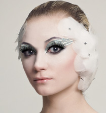 Light Swan or White Swan Eyes self adhesive body art from Xotic Eyes