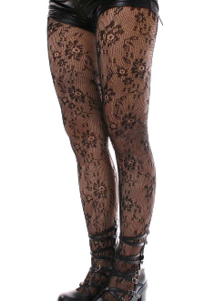 93a0488a0ba Keira s Favorite Black Dolly Floral Lace Tights