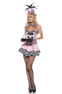 Mystery House Pink Cigarette Girl Costume