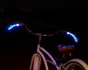 Glowing Fiberoptic Streamers for Bike Handlebars
