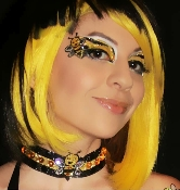 Bumble Bee Choker self adhesive body art from Xotic Eyes
