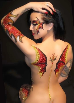 Demonic Wings self adhesive body art from Xotic Eyes