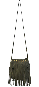 JJ Winters #365 Fringe bag with studs in leather or suede