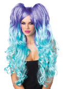 Leg Avenue Moonlight Long Curly Wig with Pony Tails