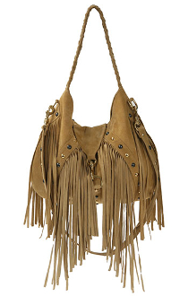 JJ Winters Suede Fringe Bag #323 As seen on Jessica Szohr