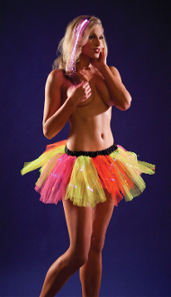 Raveware Neon Rainbow Light-Up Fairy Petticoat