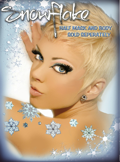 Snowflakes self adhesive body art from Xotic Eyes