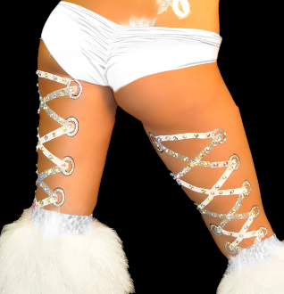 Corset Leg Laces self adhesive body art from Xotic Eyes