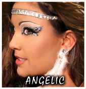 Xotic Eyes Halo Angelic Self Adhesive Headband body art