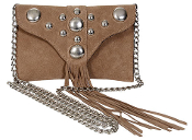 JJ Winters #335 Cross Body Bag with Fringe and Studs