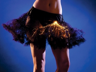 Light up petticoat in Black with orange lights