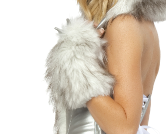 J Valentine Wolf Fur gloves