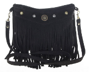 JJ Winters #373 Fringe bag with studs