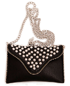 JJ Winters Studded Zipper Detail Chain Strap Bag #393