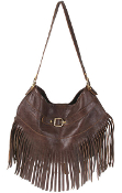 JJ Winters Suede Fringe bag 281 with buckle