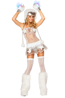 J Valentine Clear Vinyl Skirt and Top Set