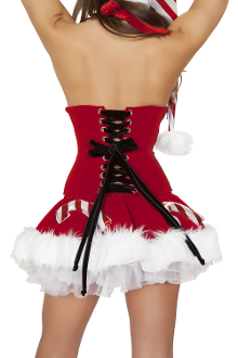 J Valentine Lace-up Waist Cincher