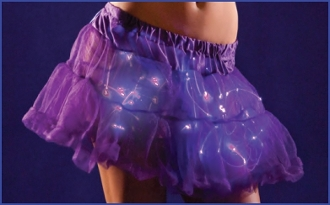Regular Length Purple light up Tutu petticoat