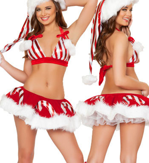 J Valentine Candy Cane Skirt and Top Set