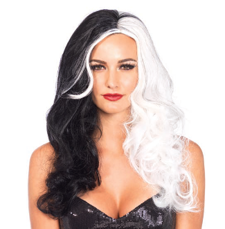 Leg Avenue Two Tone Long Wavy Villain Wig
