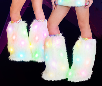 J Valentine Light Up Leg Warmers
