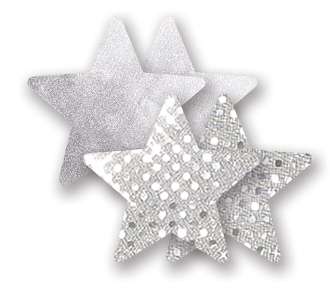 Nippies stars in Gold or Silver Sparkles
